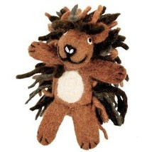 Wild Woolie Porcupine Hand Felted Finger Puppet... - $10.88