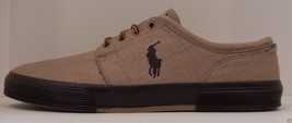 GENUINE POLO RALPH LAUREN MENS SIZE 17D KHAKI LIGHT BROWN CANVAS FASHION... - $44.54