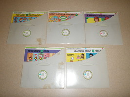 1981 Mattel Records & Boards Learning About My World Original Sleeves Lot Of 5 - $46.75