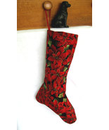Christmas Poinsettia Stockings - Handmade Lined Traditional Christmas St... - $14.99