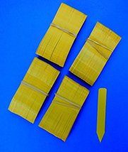 """100 Yellow Plastic Plant Stakes Labels Nursery Tags - Made in USA 4"""" X 5/8"""" - $12.86"""