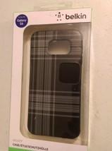 Belkin Black Plaid Smartphone Case For Galaxy S6  F8M994btC00 - $8.90
