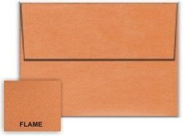Metallic Orange Flame A1 (3-5/8-x-5-1/8) Envelopes 25-pk - 120 GSM (81lb... - $15.92