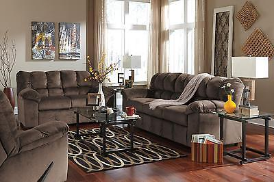 Ashley Julson Living Room Set 3pcs in Cafe Upholstery Fabric Contemporary Style