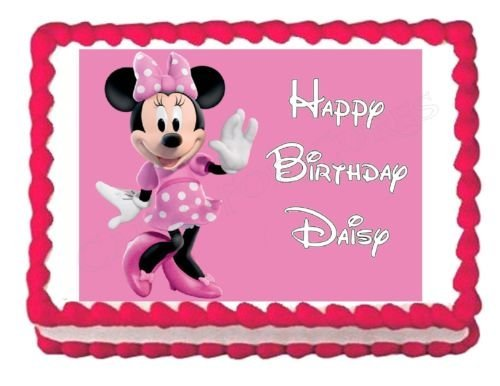 Cake Decorating Birthday Party Places : MINNIE MOUSE party decoration edible cake image cake ...