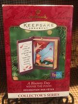 Disney A Blustery Day Winnie The Pooh Hallmark Christmas Ornament #3 2000 - $9.89