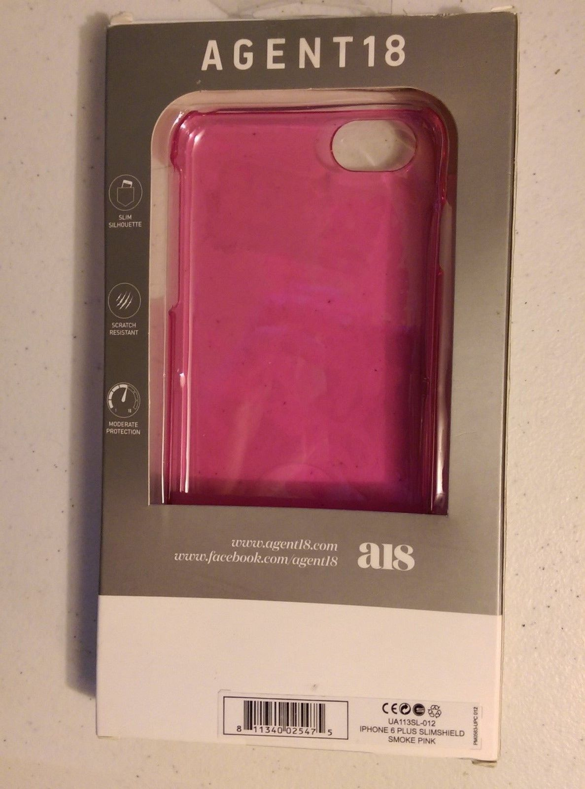 SMOKE PINK Agent 18 SlimShield iPhone 6 Plus Silhouette Case
