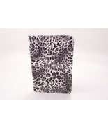 White Black Leopard Print Bifold Portfolio Leather Stand Case For iPad Mini - $6.92