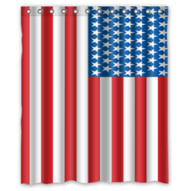 USA Flag #01 Shower Curtain Waterproof Made From Polyester - $31.26+