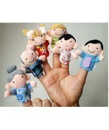 6Pcs Family Finger fantoches de dedo Puppets Cloth Doll Baby Educational... - $9.50