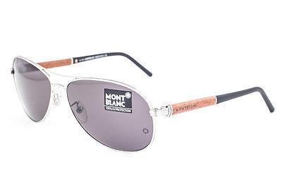 Mont Blanc Palladium Wood / Gray Sunglasses MB409S 16A
