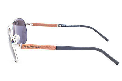 Mont Blanc Palladium Wood / Gray Sunglasses MB409S 16A image 3