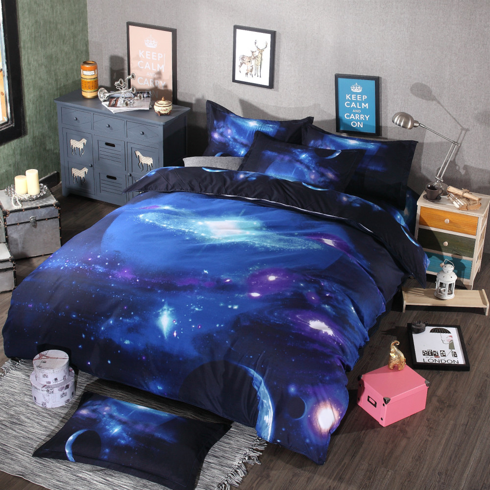 3d bedding set duvet cover bed sheet pillow cases green series galaxy series duvet covers sets. Black Bedroom Furniture Sets. Home Design Ideas