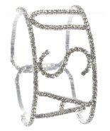 Patriotic Silvertone Rhinestone Cuff Bracelet U... - $17.81