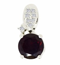 New Collection 925 Sterling Jewelry with Garnet&White Topaz Stone Pendant SP350 - $14.95