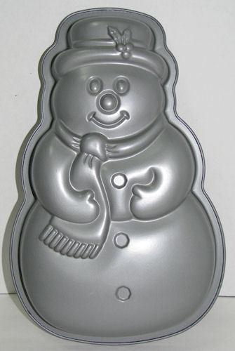 Bakers Secret Nonstick Snowman Cake Pan w/ Insert Instructions Unused
