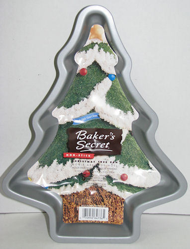 Bakers Secret Nonstick Christmas Tree Cake Pan w/ Insert Instructions Unused