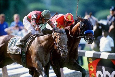 DVD - REAL QUIET's 1998 RUN for the TRIPLE CROWN...VICTORY GALLOP in BELMONT