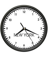 NEW YORK TIME Wall Clock world time zone clock ... - $19.79