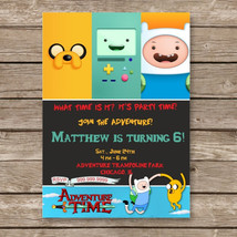 Adventure Time Birthday Digital Invitation - $6.90+