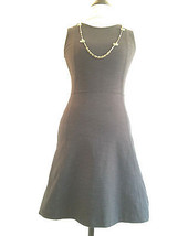 J Crew Dress Size 0 Black Knit spandex stretch Princess Seam Back Zip Sl... - $29.99