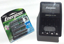 Energizer Charger & Battery Combo 120VAC 4-Slots Charge NiMH AA/AAA - $25.51