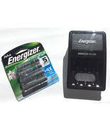 Energizer Charger & Battery Combo 120VAC 4-Slot... - $25.51