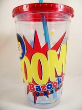 Bazooka Bubble Gum Travel Tumbler Cup Mug Hot Cold Boom! Insulated with ... - $9.98