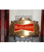 Pre Owned Retro Red & Gold Budweiser Emblem Bel... - $14.85
