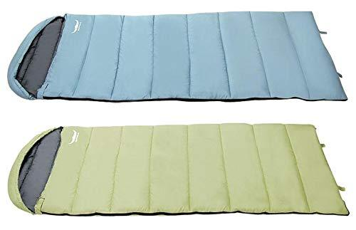 Buffalo Outdoor Three-Season Sleeping Bag 2 Counts Set for Camping Hiking (Sky B