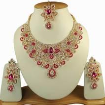 Zicsy Elegant Design Kundan Alloy Necklace Set Combo BOHH266 - $54.00