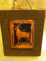 Reindeer Deer with Antlers and fir branch Paper Cutting scherenschnitte fraktur