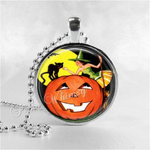 VINTAGE HALLOWEEN Necklace, Witch, Vintage Witch, Witch Necklace, Black ... - $12.95