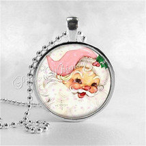 PINK SANTA Necklace, Pink Christmas, Santa Claus Necklace, Santa Claus, ... - $12.95