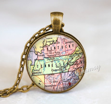 TENNESSEE MAP Necklace, Tennessee Map Pendant, Tennessee Keychain, Tenne... - $12.95