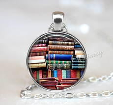 BOOK Necklace, Book Pendant, Book Keychain, Book Jewelry, Library Books ... - $9.95