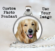 CUSTOM PET PHOTO Pendant Necklace, Custom Photo Jewelry, Personalized Ph... - $14.95