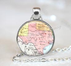 TEXAS MAP Necklace, Texas Pendant, Texas Map Pendant, Texas Keychain, Te... - $12.95
