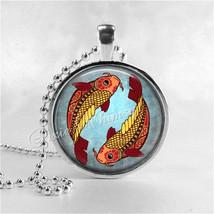 PISCES Necklace, Pisces Pendant, Pisces Jewelry, Astrology, Zodiac, Cons... - $12.95