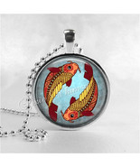 PISCES Necklace, Pisces Pendant, Pisces Jewelry, Astrology, Zodiac, Cons... - $12.95