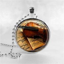 VIOLIN Necklace, Violin Pendant, Violin Jewelry, Music Necklace, Music P... - $9.95