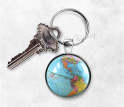 GLOBE Keychain, Globe Keyring, Key Chain, World... - $9.95