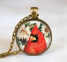 CARDINAL Necklace, Cardinal Pendant, Cardinal Keychain, Cardinal Jewelry, Bird N - $12.95