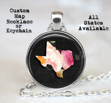 CUSTOM STATE Map Necklace, State Map Pendant, State Map Necklace, Home State Map - $12.95