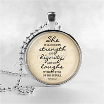 PROVERBS Necklace, Proverbs Pendant, Bible Scripture Necklace, Scripture Necklac - $12.95