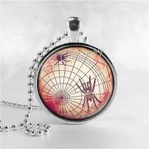SPIDER Necklace, Spider Pendant, Spiderweb Necklace, Spider Jewelry, Hal... - $12.95