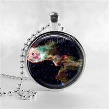 NEBULA Necklace, Nebula Pendant, Elephants Trunk Nebula, Glass Photo Art... - $12.95