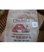 Gourmet Pinto Bean Burlap Bag: NO Beans Included - $14.00