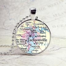 FLORIDA MAP Necklace, Jacksonville Florida,  Florida Pendant, Florida Je... - $9.95