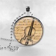 VIOLIN Necklace, Violin Pendant, Violin Jewelry, Musician, Music Necklac... - $12.95